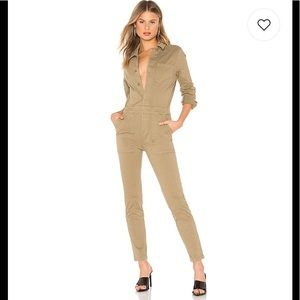 MONROW X Revolve BEST Fitted Jumpsuit in Olive NWT